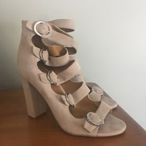 Kendall Kylie Evie shoes heels Leather Sandals 8.5